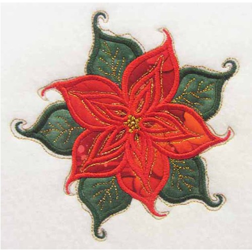 Poinsettia Applique Large