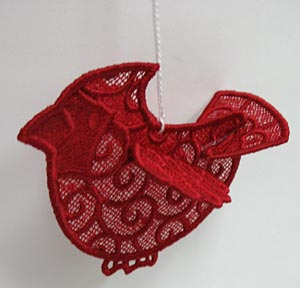 This little bird is from The Embroidery Library. Click on the picture to go to a step by step tutorial on making this project.