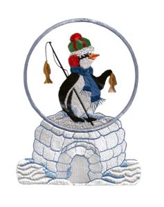 I love this Snow Globe  design! Stitch this onto fleece and cut it out. Perfect ornament!