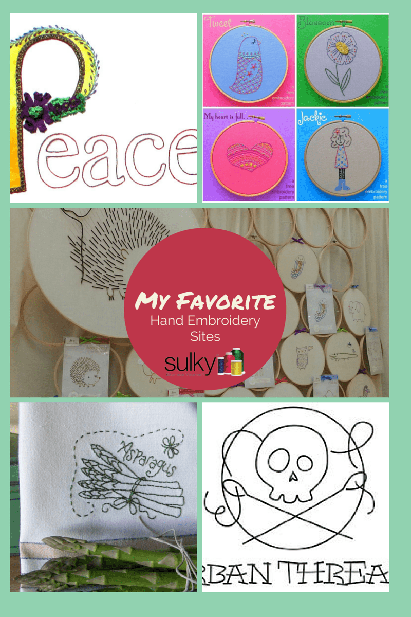 My Favorite Sites For Hand Embroidery Patterns & A Giveaway