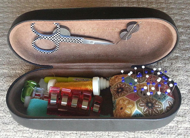 eyeglass case sewing kit