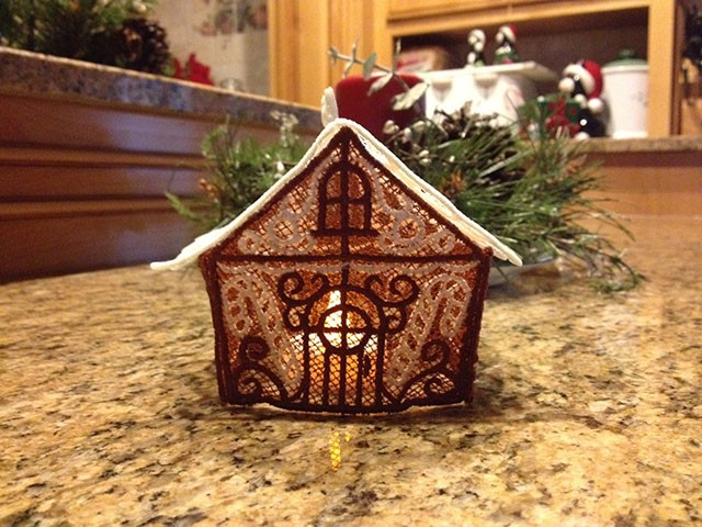 lace gingerbread house