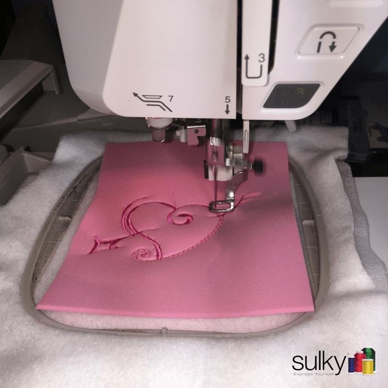 Puffy Foam Embroidery stitching
