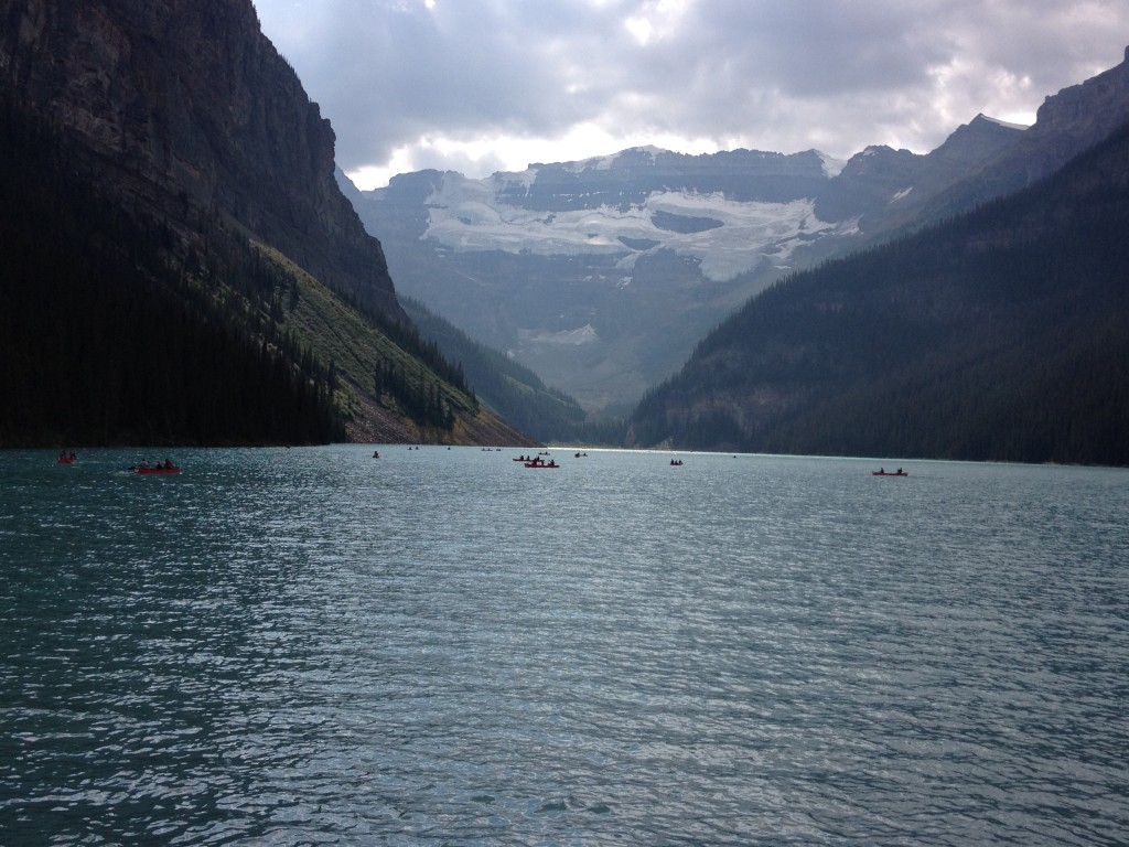 The Beautiful scenery on the summer trip. This is Lake Louise near Banff, Alberta