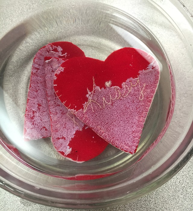 hearts in water