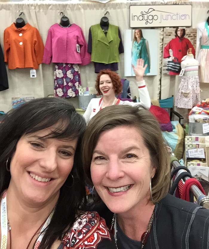 Amy Barickman and I! I love her new pattern book! Click here to check it out.