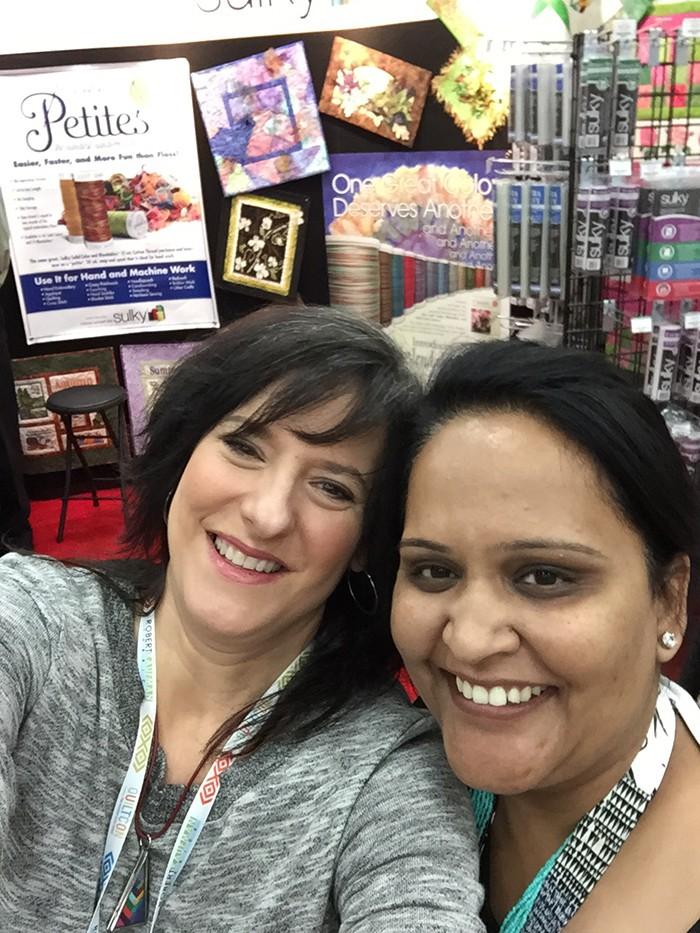 This sweet girl came all the way form India just for Quiltcon!