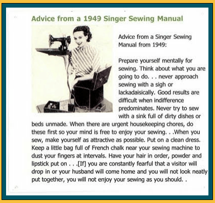advice from 1949 Singer