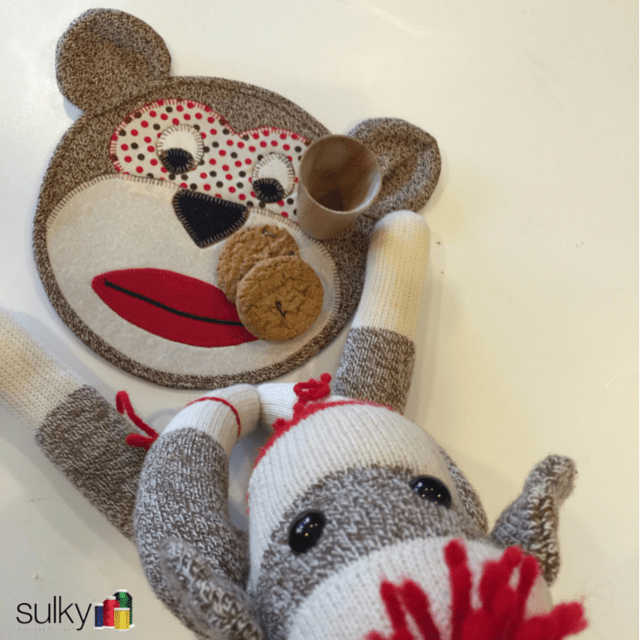 sulky sock monkey snack mat