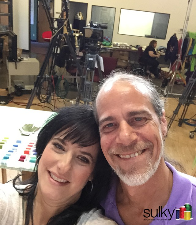 Eric and me on the set