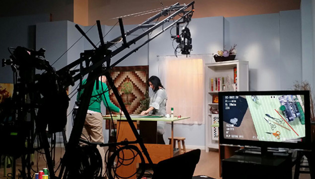 Behind the scenes of filming Artistry in Applique