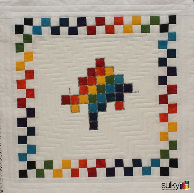 Wall Hanging using the Square Dance technique. You get the directions for this when you take the class!