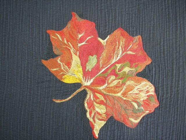 thread sketched maple leaf 1