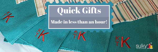 Quick Gifts – Make These In Less Than An Hour!
