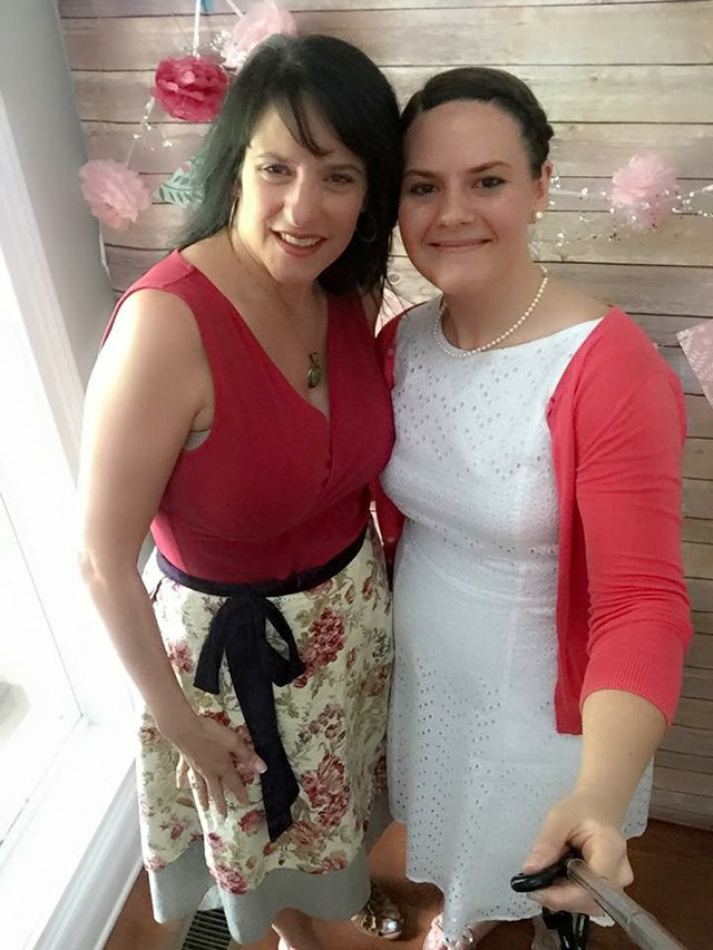 Kaela and me at her bridal shower!