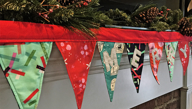 Christmas in July Series – Mantel Scarf