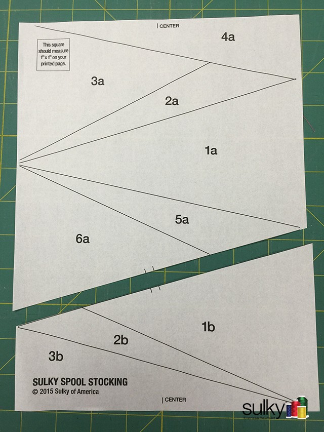 paper piecing sections