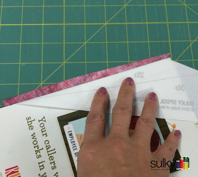 paper piecing using card