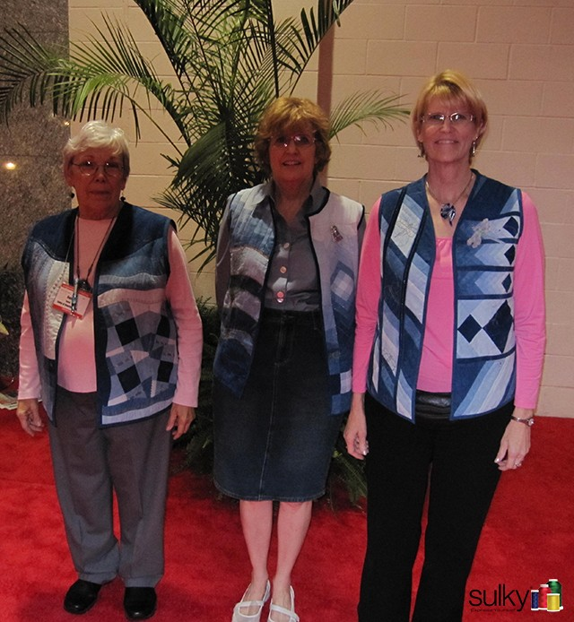 The three ladies in the Cherrywood fabric vests in 2011