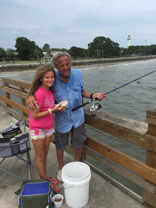 My oldest daughter, Korey, fishing with my her Papa, my sweet Daddy