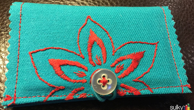 Fun Hand Embroidery Project – Business Card or Credit Card Holder
