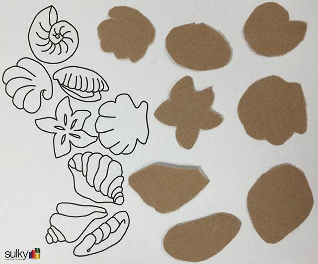 sandpaper seashell coasters 11