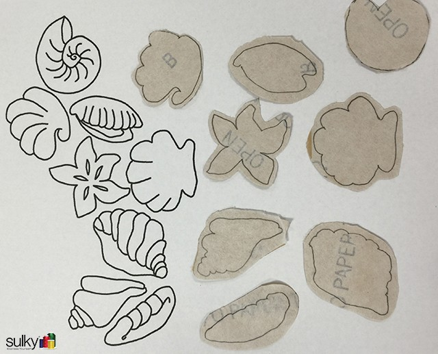 sandpaper seashell coasters 12