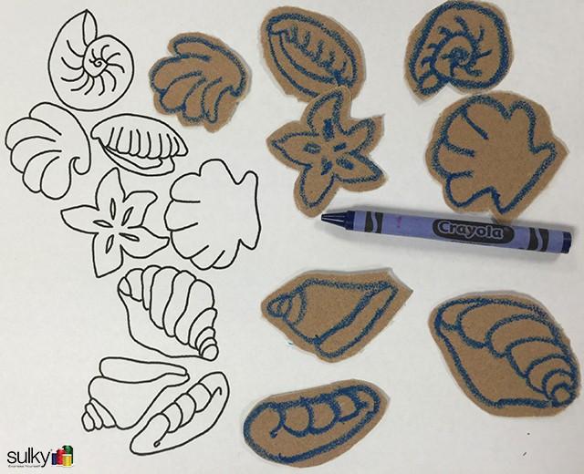sandpaper seashell coasters 9