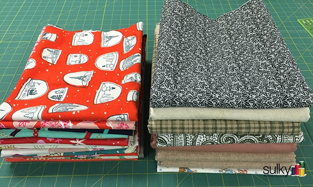 yardage fabric folded