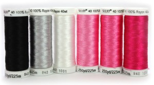 Pink Ribbon Rayon Thread Collection