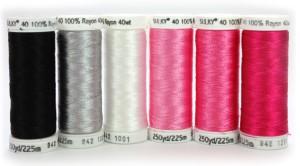 Pink Ribbon Rayon Thread Collection