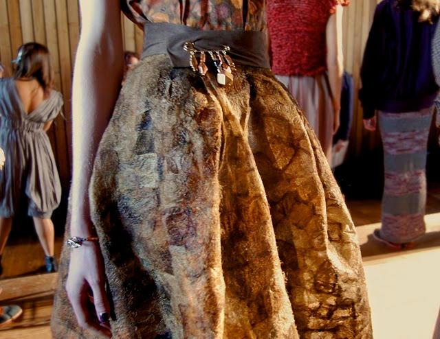 CPALI silk skirt