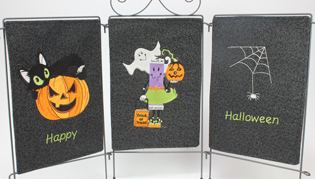 Fun Halloween Machine Embroidery Project