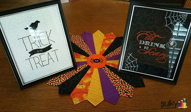 halloween framed hand projects