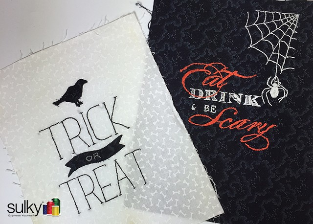 halloween hand project 1 - Halloween Hand Embroidery Patterns