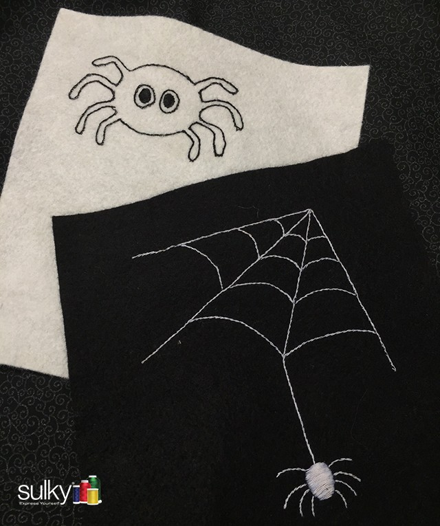 hand spiders - Halloween Hand Embroidery Patterns