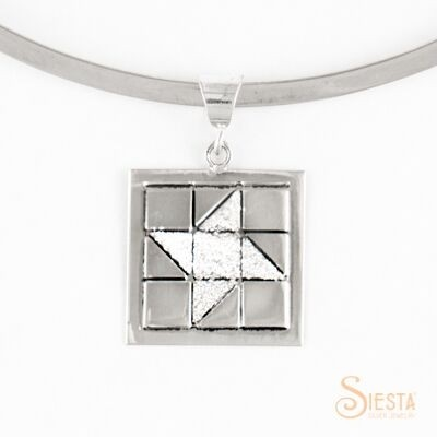 Sterling Silver Medium Friendship Star Pendant