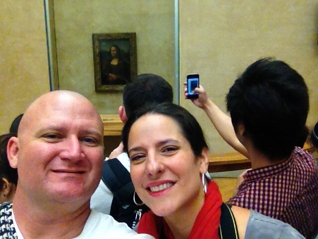 Rich and I meeting Mona Lisa in 2012