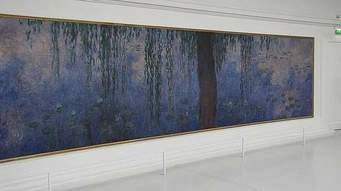 One painting in a the eight painting series. Monet's Water Lilies
