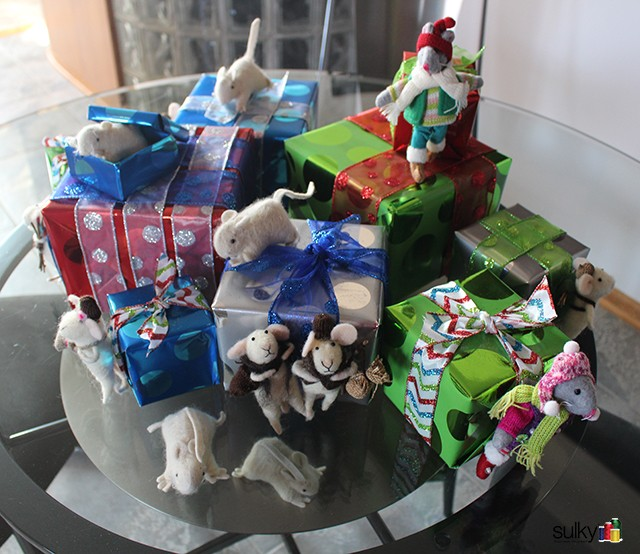 Diane Gloystein, National Educator representing Sulky, had a Mice Invasion for Christmas!