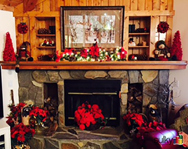 Joyce and Fred Drexler's home, Co-Founders of Sulky, is wonderful at Christmas!