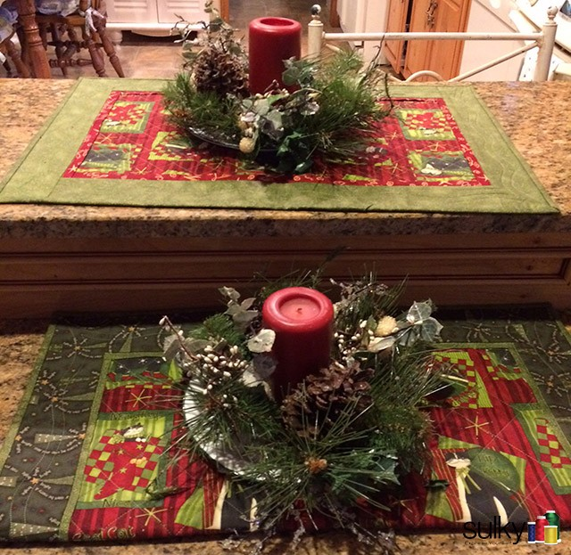 Lovely placemats by Carol