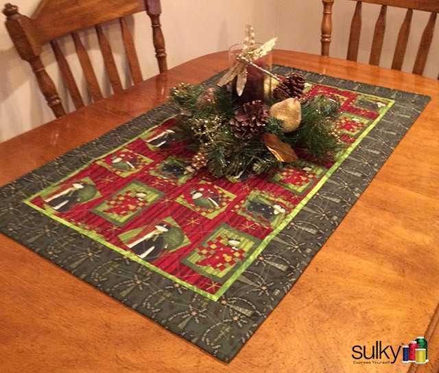A table runner in Patti's house by Carol Ingram