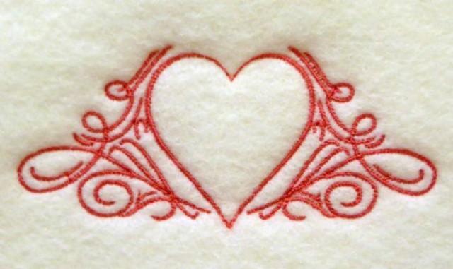 Heart wiht scroll