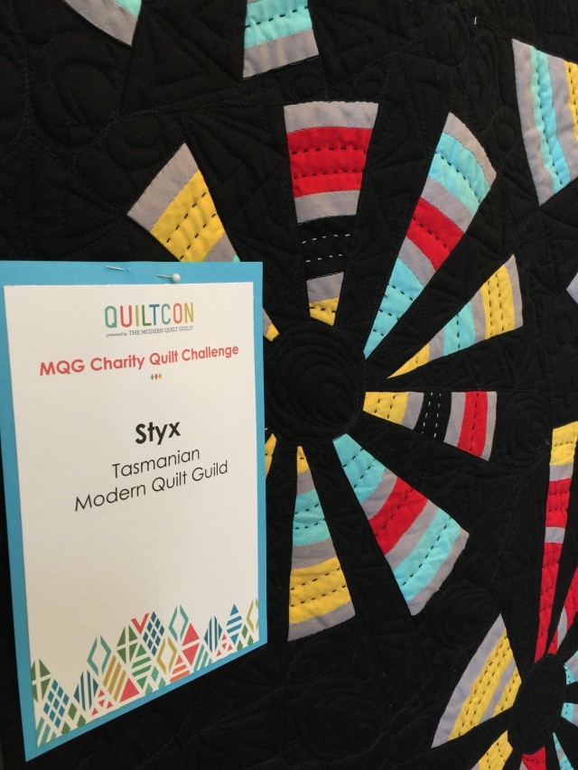 Charity Quilt from the Tasmanian Modern Quilt Guild