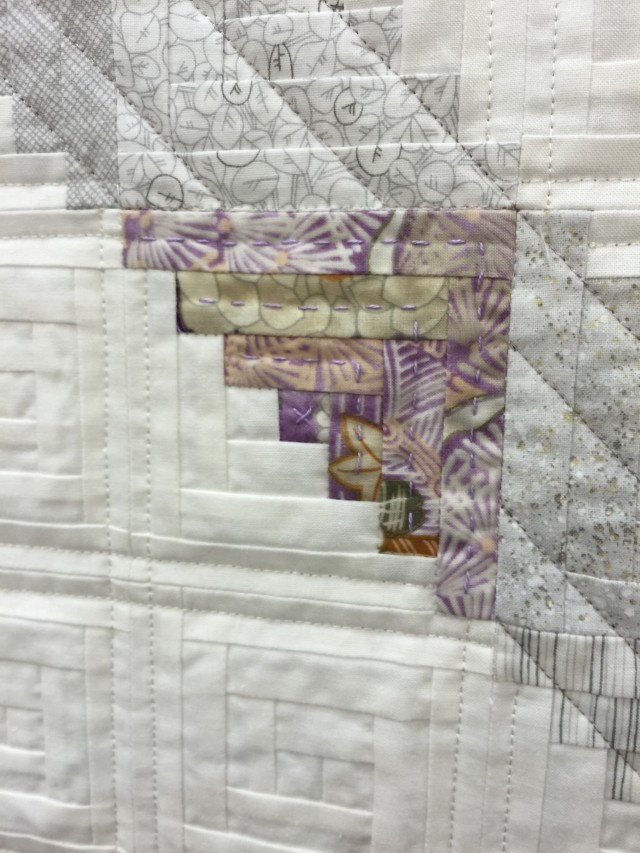 I love the use of hand quilting and machine in this quilt by Letitia Chung and Laurie Grant that won 1st place in Modern Traditionalism.