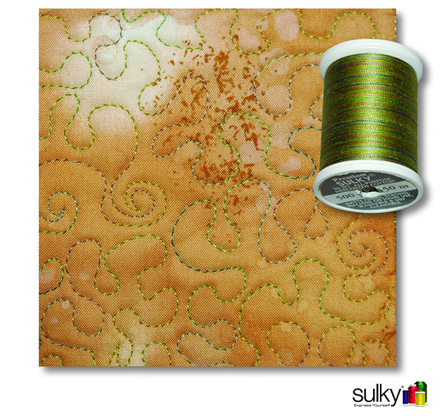 Quilted with Sulky 30 wt. Cotton Thread