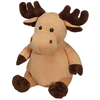 embroider a stuffed animal - moose