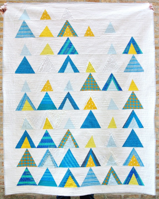3rd place in the Handwork Category, Mod Mountains by Susanne Williams