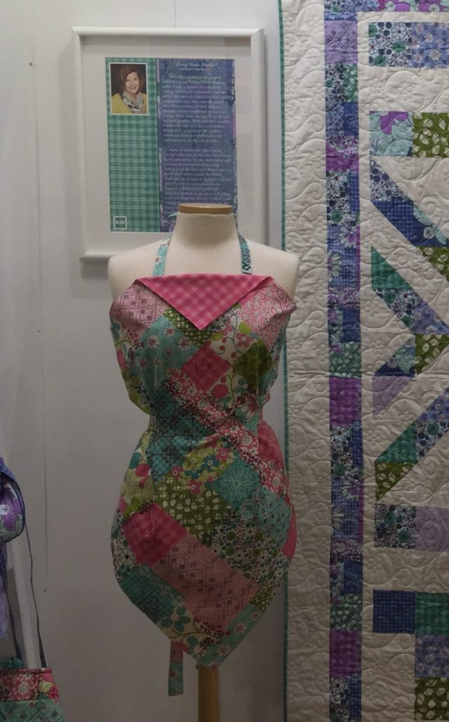 Apron made with Stitcher's Garden Fabric